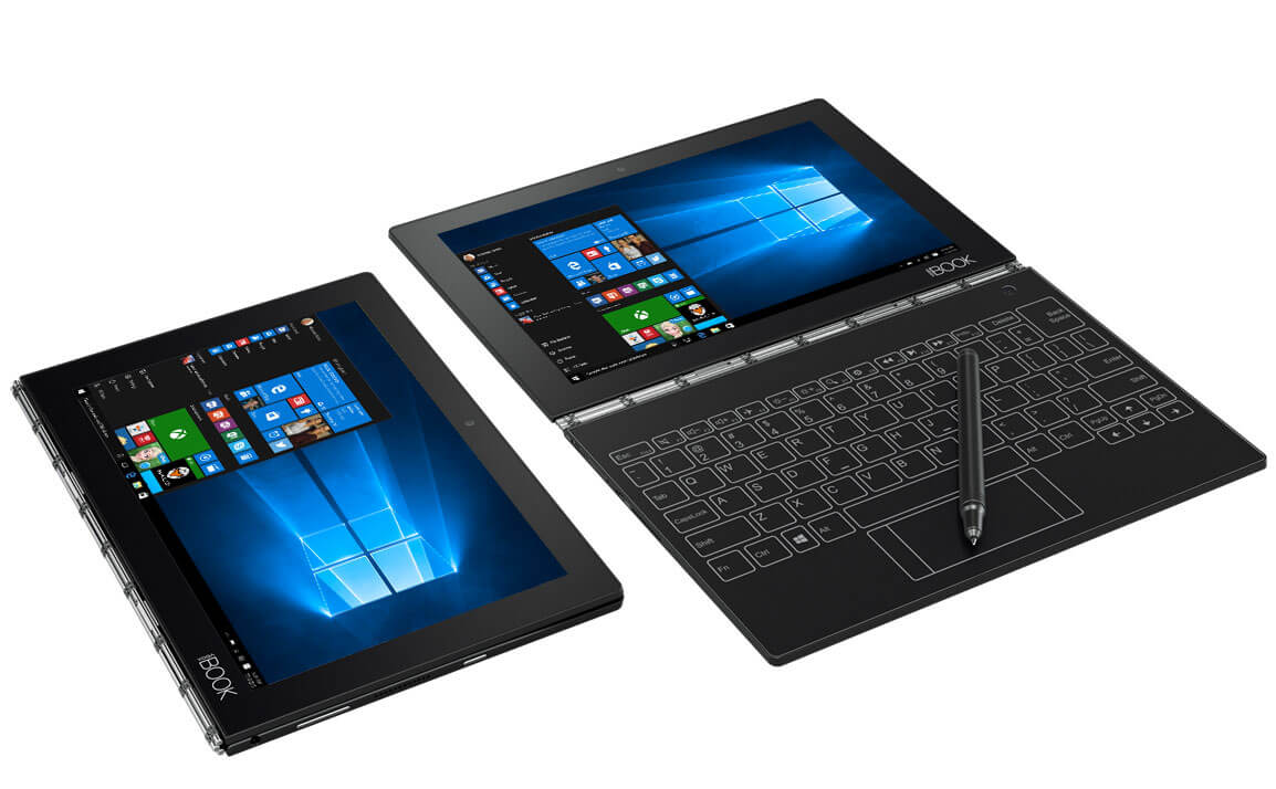 "Lenovo YOGA BOOK Atom™ X5-z8550 10.1"" 4/64 eMMC/WIN10/2 WEBCAM/Touchscreen/1920x1200, Чорний"