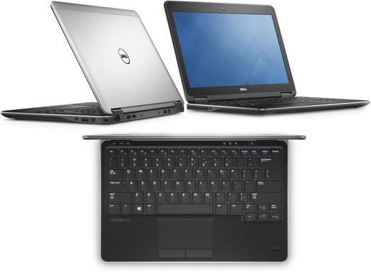 "DELL Latitude E7240 i7-4600U 12,5""/8/256 SSD/Win8P/WEBCAM, Срібний"