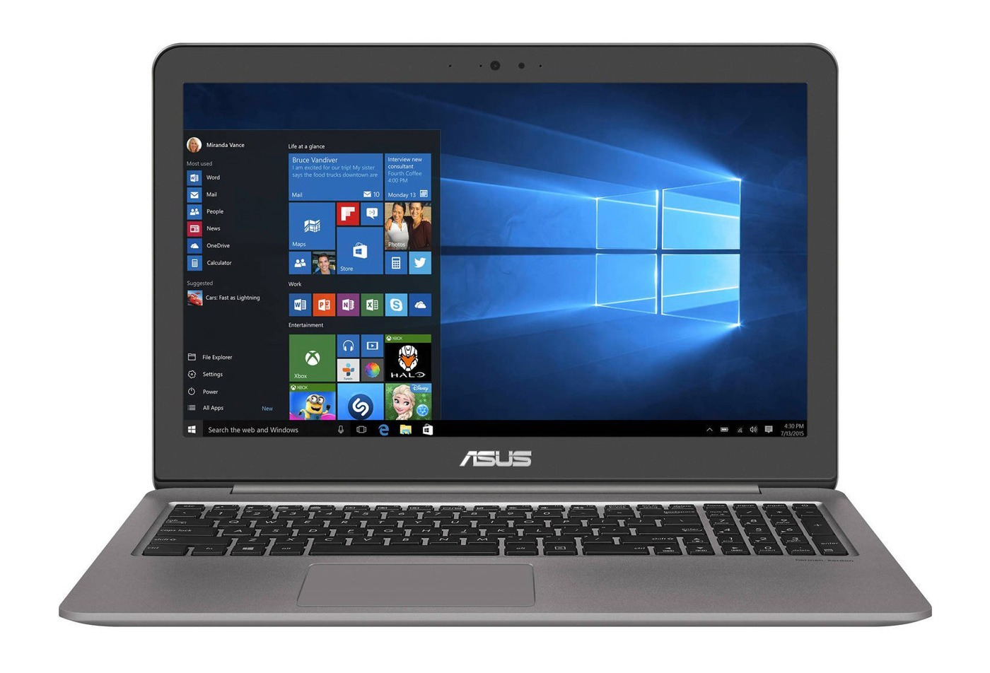 "ASUS ZenBook UX510UX 15,6"" i5-6200U/4GB/1TB/GTX950M/Win10, Quartz Grey"